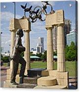 Centennial Olympic Park Sulpture Acrylic Print