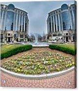 Center Fountain Piece In Piedmont Plaza Charlotte Nc Acrylic Print