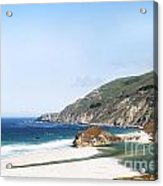 Central Coast Beach Near Cambria And San Simeon Acrylic Print