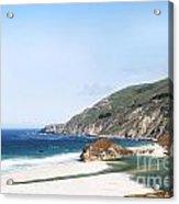 Central Coast Beach Near Cambria And San Simeon Acrylic Print by Artist and Photographer Laura Wrede