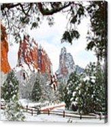 Central Garden Of The Gods After A Fresh Snowfall Acrylic Print by John Hoffman