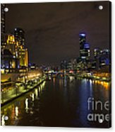 Central Melbourne Skyline In Australia Acrylic Print