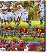 Central Michigan Football Collage Acrylic Print
