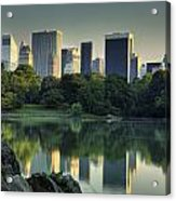 Central Park Lake Looking South Acrylic Print