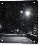Central Park At Night Acrylic Print