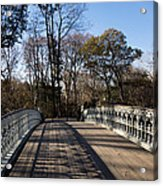 Central Park Bridge Shadows Acrylic Print