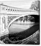 Central Park Bridges Bow Bridge Spanning Lake Acrylic Print