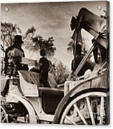 Central Park Carriage Ride - Antique Appeal Acrylic Print