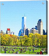 Central Park Panoramic View Acrylic Print