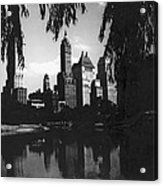 Central Park Evening View Acrylic Print
