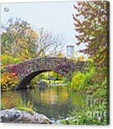 Central Park Gapstow Bridge Autumn II Acrylic Print