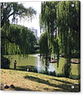 Central Park In The Summer Acrylic Print