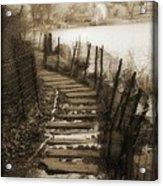 Central Park Path Acrylic Print