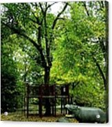 Central Park Playground Acrylic Print by Claudette Bujold-Poirier
