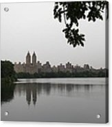 Central Park Reservoir With Reflection Nyc Acrylic Print