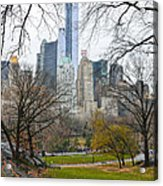 Central Park South Buildings From Central Park Acrylic Print