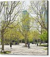 Central Shanghai Park In China Acrylic Print