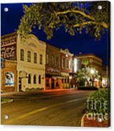 Centre Street Downtown Fernandina Florida Acrylic Print