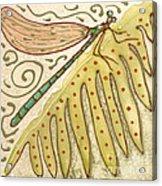 Ceramic Dragonfly Acrylic Print by Anna Skaradzinska