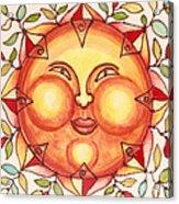 Ceramic Sun 2 Acrylic Print by Anna Skaradzinska