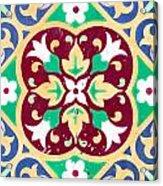 Ceramic Tile Closeup Acrylic Print