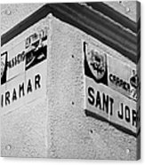 ceramic tile street nameplates in Cambrils Catalonia Spain Poster by ...