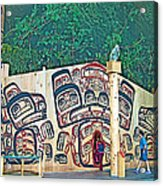 Ceremonial Lodge In Canadian Museum Of Civilization In Gatineau- Acrylic Print