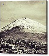 Cerro Rico Potosi Black And White Vintage Acrylic Print by For Ninety One Days