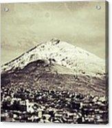 Cerro Rico Potosi Black And White Vintage Acrylic Print