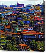 Cerro Valparaiso Acrylic Print