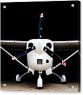 Cessna Dark Hanger Acrylic Print
