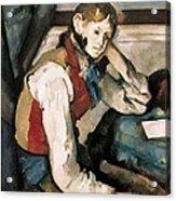 Cezanne, Paul 1839-1906. The Boy Acrylic Print