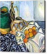 Cezanne Still Life With Apples In Watercolor Acrylic Print