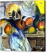 Cezanne Still Life With Skull Acrylic Print