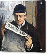 Cezanne's Father Reading Le Evenement Acrylic Print