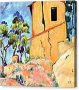 Cezanne's House With Cracked Walls Acrylic Print