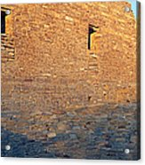 Chaco Canyon Indian Ruins, Sunset, New Acrylic Print