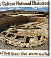 Chaco Culture National Historic Park Poster Acrylic Print