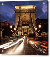 Chain Bridge Budapest  Acrylic Print