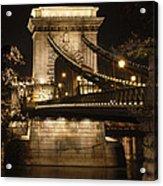 Chain Bridge Close-up Acrylic Print