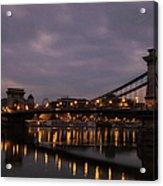 Chain Bridge Dawn Acrylic Print