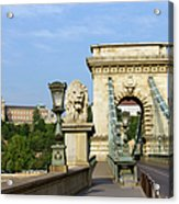 Chain Bridge In Budapest Acrylic Print