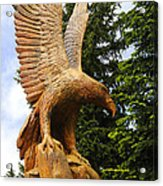 Chainsaw Carved Eagle Acrylic Print