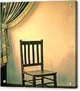 Chair And Curtain Acrylic Print