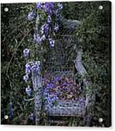 Chair And Flowers Acrylic Print