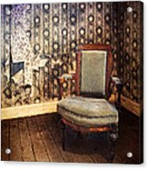 Chair In Abandoned Room Acrylic Print