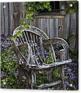 Chair In The Garden Acrylic Print
