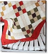 Chair Quilt            Brush Strokes Acrylic Print