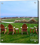 Chairs At The Eighteenth Hole Acrylic Print