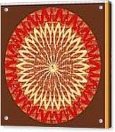 Chakra Mandala With Crystal Stone Healing Energy Plates By Side  Navinjoshi Rights Managed Images Fo Acrylic Print